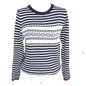 Jcrew navy blue/white stripe sweater size XS